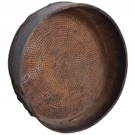 Antique Primitive Bentwood and Goatskin Flour Sieve Sifter, Guatemala, 1800s