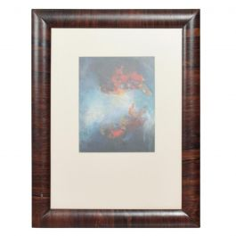 Guatemala Abstract Oil Painting Rosewood Frame