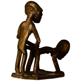 Small Bronze Sculpture, Erotic Couple