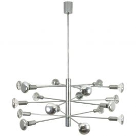 Modernist Chrome Sputnik Hanging Light by Cosack Lights, 1960s, Germany