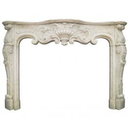 Louis XV Rococo Marble Fireplace Mantel