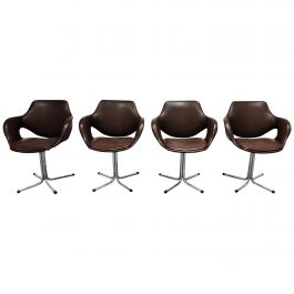Vintage Boris Tabacoff Style Dining Chairs, 1960s