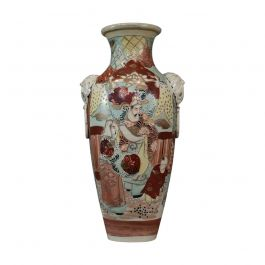 Large Vintage Baluster Vase, Oriental, Decorative, Ceramic, 20th Century