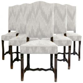 Six French Dining Chairs Os de Mouton includes recovering