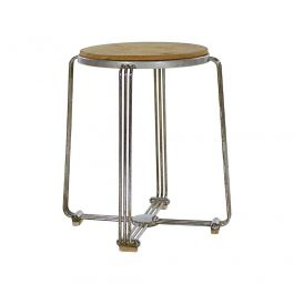 Art Deco Aluminium Stool