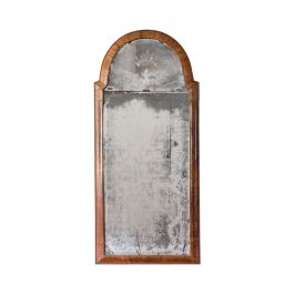 A Queen Anne Pier Mirror With An Arched Walnut Frame