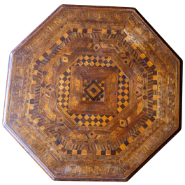 An inlaid Moorish table