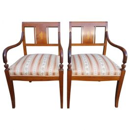 Early 1900s Art Deco Biedermeier Carver Chairs