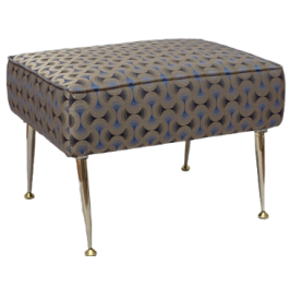 Footstool with brass legs