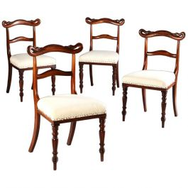 A Set Of Unusual Swan Back Side Chairs