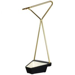 Original Midcentury Metal Brass Modernist Bauhaus Umbrella Stand