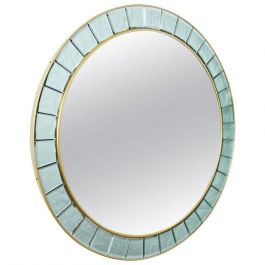 Large Round Mirror in the Style of Cristal Arte, 2010