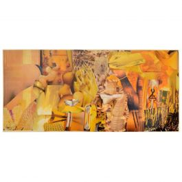 Abstract Collage Art in Tones of Yellow by Bill Allan, UK, 1993