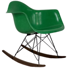 EAMES HERMAN MILLER DAX FIBREGLASS CHAIR IN KELLY GREEN