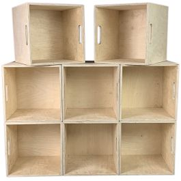 VINYL RECORDS STORAGE CRATE FOR LPS & 12