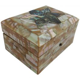 Antique Box Mother of Pearl and Abalone Jewellery Box