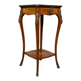 French Antique Etagere, Kingwood Side Table, Nightstand, Druce and Co, c.1870