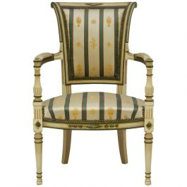 20th Century Empire Revival French Open Armchair