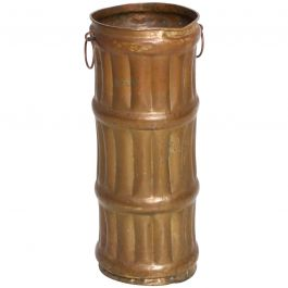 Umbrella Walking Cane Stand Faux Bamboo in Solid Brass, Hollywood Regency