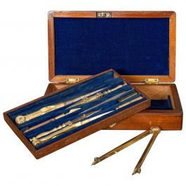 Vintage Draughtsman's Instrument Set, Drawing, Navigation, Henry Hughes and Son