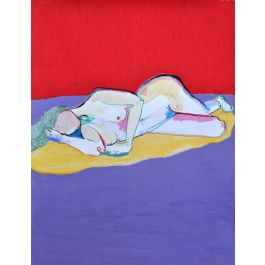 Nude Channelling Francis Bacon by Fipé Gouge-Merrall
