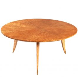 French Art Deco Maple Coffee Table