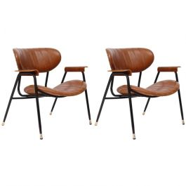 Pair of Gastone Rinaldi Lounge Chairs for RIMA, Italy, circa 1950