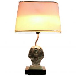 Hollywood Regency Pharaoh Table Lamp Belgium, 1970s