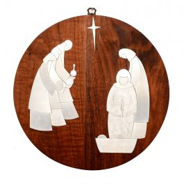 Rus Teteer Nativity Adoration Mid-Century Modern Studio Piece
