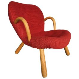 Original Red Fabric Arctander Armchair Model