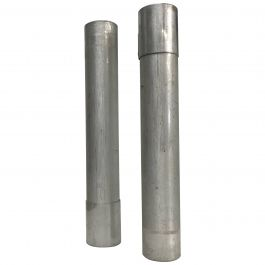 Set of Two 1970s Aluminum Tubes
