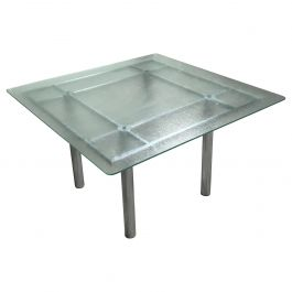 Chrome Dining Table by Tobia Scarpa, 1960s