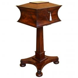 19th Century English William IV Mahogany Tea Poy