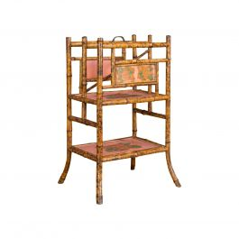 Antique Canterbury, Oriental, Bamboo, Music Stand, Magazine Rack, circa 1880