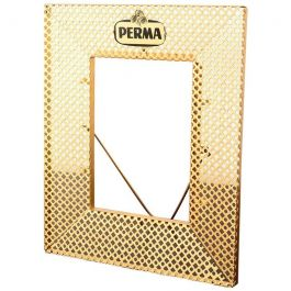 Midcentury Italian Perforated Metal Picture Photo Frame, 1950s