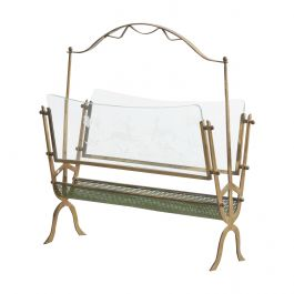 Fontana Arte Brass and Glass Magazine Rack