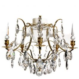 Brass Bathroom Chandelier 03