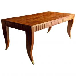 Attributed to Gio Ponti Dining Table Desk Mahogany Italian, circa 1940