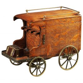 19th Century Novelty Smokers Companion Carriage