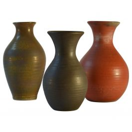 Group of Three Midcentury Ceramic Dutch Studio Vases