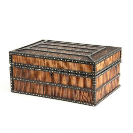 A 19th Century Anglo-Indian Porcupine Quills Box