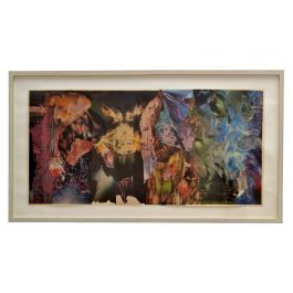 Abstract Collage Art in Multi Colours by Bill Allan