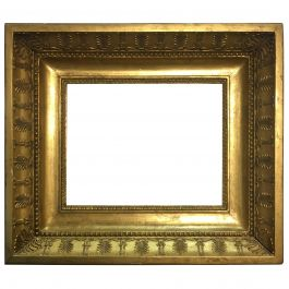 Late 19th Century Italian Neoclassical Wood Frame with Gold Leaf Cover