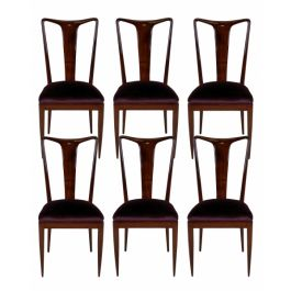 Set of Six 1940s Mahogany Dining Chairs by Ulrich