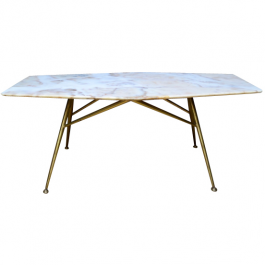 Italian Midcentury Marble Cocktail Table