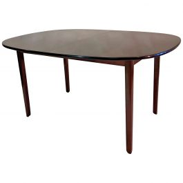 1960s Ole Wanscher Refinished Expandable Mahogany Dining Table by P. Jeppesen