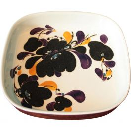 1970s Square Faience Plate By Ivan Weiss