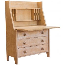 A Limed Oak Secretaire