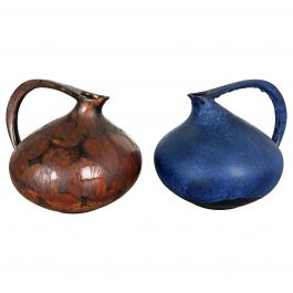 Set of 2 Pottery Vases