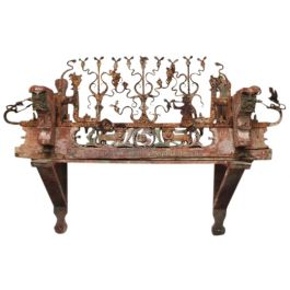 An Early 19th Century Sicilian Decorative Marriage Cart Adornment